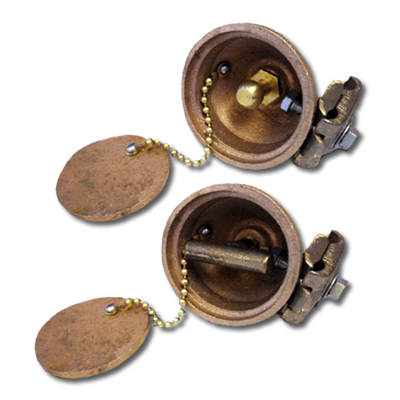 threaded static ground receptacles