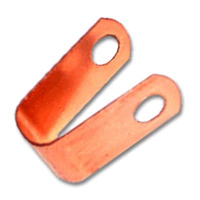 one hole conductor loop fastener - copper